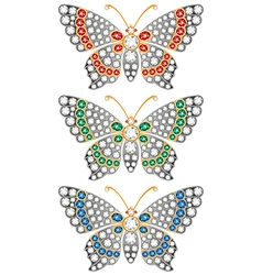 jewerly butterflies vector image