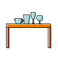 Kitchen table vector
