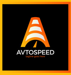 Letter a logo - auto speed vector