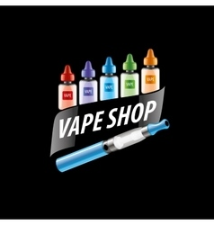 Logo for the shop of electronic cigarettes vector