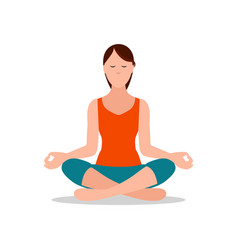 Lotus position of yoga sitting vector