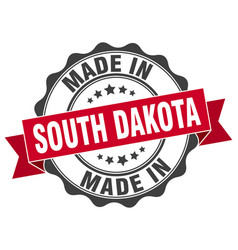 Made in south dakota round seal vector