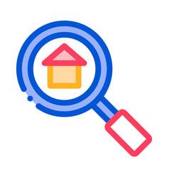 magnifier search estate thin line icon vector image
