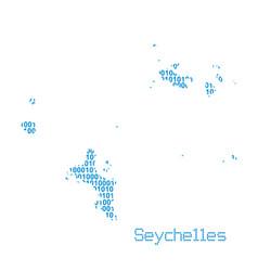 map seychelles vector image