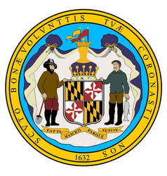 Maryland state seal vector