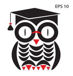owl smart vector image