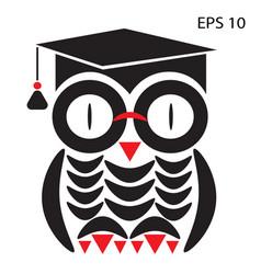 owl smart vector image