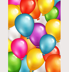 Party balloons background vector