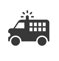 prisoner transport van police related solid icon vector image