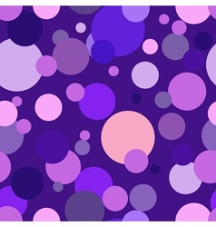 Purple circles all around vector image