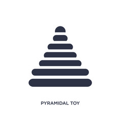Pyramidal toy icon on white background simple vector