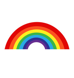 rainbow with cloud icon vector image