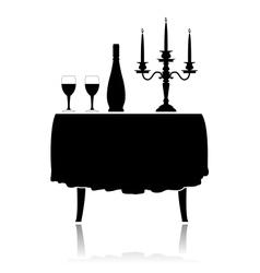 Romantic restaurant table vector