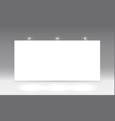 scene show podium for presentations on grey vector image
