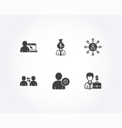Security online education and communication icons vector