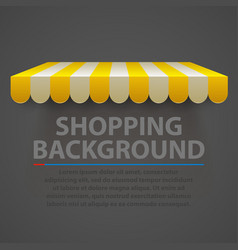 Store striped awning modern background vector