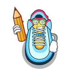student cartoon pair of casual sneakers vector image