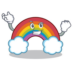 Successful colorful rainbow character cartoon vector