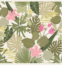 summer colorful hawaiian seamless pattern vector image