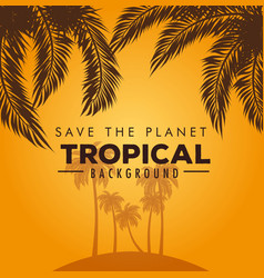 summer tropical background vector image