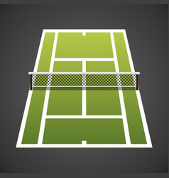 tennis court isometric vector image