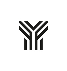 Unusual geometric letter Y Architecture vector image