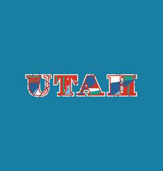 Utah concept word art vector
