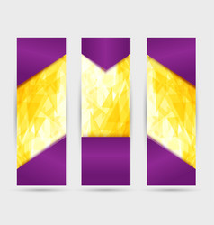 Violet and yellow roll up with bright background vector