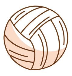 Volleyball balloon isolated icon vector