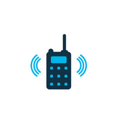 walkie-talkie icon colored symbol premium quality vector image