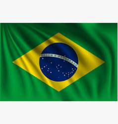 Waving brazil vector