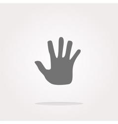 hand icon on web button Web Icon Art vector image