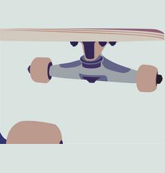 skateboard background vector image