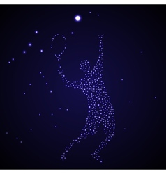 Abstract tennis player silhouette vector image