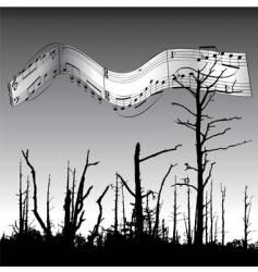 Dead tree music vector