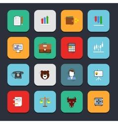 Finance exchange icons flat vector image