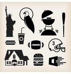 American stereotypes vector image