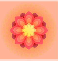 beautiful colorful flower vector image