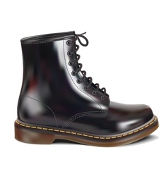 black leather boot vector image