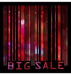 Colorful big sale bar code EPS 8 vector image