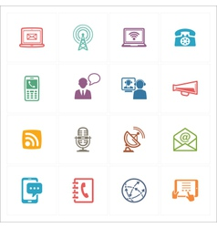 Communication Icons Set 1 - Colored Series vector image vector image