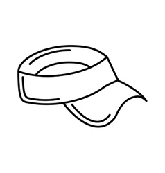 golf hat uniform isolated icon vector image vector image