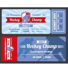 Hockey sports ticket card modern design vector image vector image