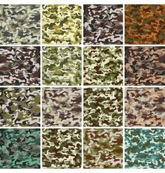 Mega Set of Seamless Camouflage Pattern vector image