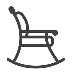 rocking chair line icon furniture and interior vector image vector image