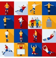 Soccer Players Icons Flat Set vector image vector image