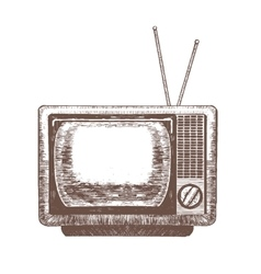 TV Retro Hand Draw Sketch vector image vector image
