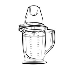 drawing black and white kitchen blender vector image vector image