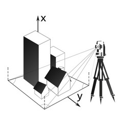 geodetic survey of real estate and land vector image