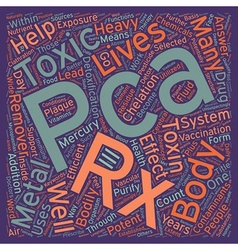 Pca rx the answer to bodily toxicity text vector